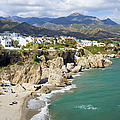Nerja Town On Costa Del Sol In Spain by Artur Bogacki