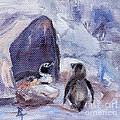 Nesting Penguins by Brenda Thour