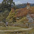 Netley Farm Shere Surrey by Helen Allingham