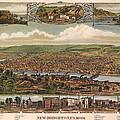 New Brighton Pennsylvania 1883 by Donna Leach