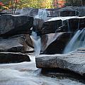 New Hampshire Waterfall 1 by Nancy De Flon
