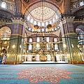 New Mosque Interior In Istanbul by Artur Bogacki
