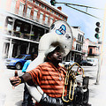 New Orleans Street Musician - Tuba Man by Bill Cannon