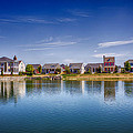 New Town On The Lake by Bill Tiepelman