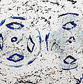 New Year Rolls Around With Abstracted Splatters In Blue Silver White Representing Snow Excitement by M Zimmerman