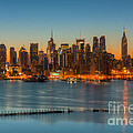 New York City Skyline Morning Twilight IIi by Clarence Holmes