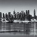 New York City Skyline Morning Twilight Iv by Clarence Holmes