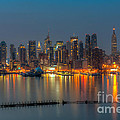 New York City Skyline Morning Twilight Xi by Clarence Holmes