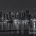New York City Skyline Morning Twilight Xvi by Clarence Holmes