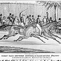 New York: Horse Race, 1845 by Granger