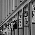 New York Mets Of Old  In Black And White by Rob Hans