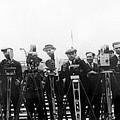 Newsreel Cameramen With Cameras by Everett