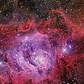 Ngc 6523, The Lagoon Nebula by R Jay GaBany