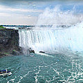 Niagara Falls And The Bubbles by Joan  Minchak
