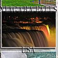 Niagara Falls Usa Triptych Series With Text by Michael Frank Jr