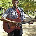 Nicaraguan Musician Big Corn Island Nicaragua by John  Mitchell