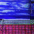 Night At Serene Patio by Adolfo hector Penas alvarado