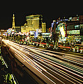 Night Exposure Of The Strip On Las by Rich Reid