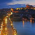 Night Lights Of Charles Bridge Or by Trish Punch