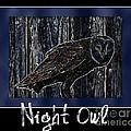 Night Owl Poster - Digital Art by Carol Groenen