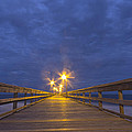 Night Pier Walk by Alan Raasch