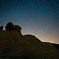 Night Sky Over Valley Of Fire by Rick Berk