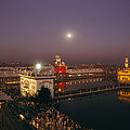 Night View Of Amritsar by James P. Blair