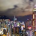 Night View Of Hong Kong Island by Lars Ruecker