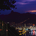 Night View Of Rio De Janeiro From An by Richard Nowitz