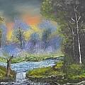 Night Waterfall by Brian White