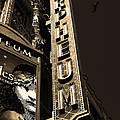Nightfall At The Orpheum - San Francisco California - 5d17991 - Sepia by Wingsdomain Art and Photography