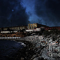 Nightfall Over Hard Time - San Quentin California State Prison - 5d18454 by Wingsdomain Art and Photography