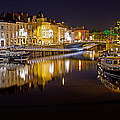 Nighttime Along The River Leie by David Freuthal