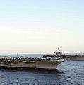 Nimitz-class Aircraft Carriers Transit by Stocktrek Images