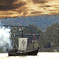 Nina's Canon Scares Ducks Off River by Randall Branham