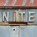 Nite Rusty Metal Sign by Nikki Marie Smith