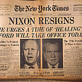 Nixon Resigns: Newspaper by Granger