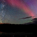 Northern Lights And The Milky Way by Cale Best