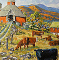 Nostalgia Cows Painting By Prankearts by Richard T Pranke