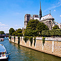 Notre Dame Cathedral Along The Seine River by Jon Berghoff
