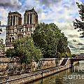 Notre Dame On The Seine by Heather Applegate