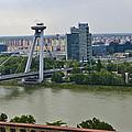 Novy Most Bridge - Bratislava by Jon Berghoff