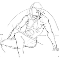 Nude-male-drawings-13 by Gordon Punt