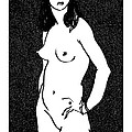 Nude Sketch 17 by Leonid Petrushin