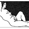 Nude Sketch 61 by Leonid Petrushin