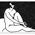 Nude Sketch 69 by Leonid Petrushin
