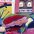 Nude With Fan In Foyer by Betty Pieper