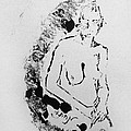Nude Young Female That Is Mysterious In A Whispy Atmospheric Hand Wringing Pose Highly Contemplative by M Zimmerman