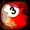 Number 3 Billiards Ball by David G Paul