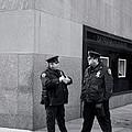 Ny Beat Cops Holding The Banana Republic by Lorraine Devon Wilke